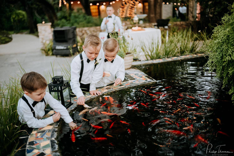 Children at The Veranda Fish Pond
