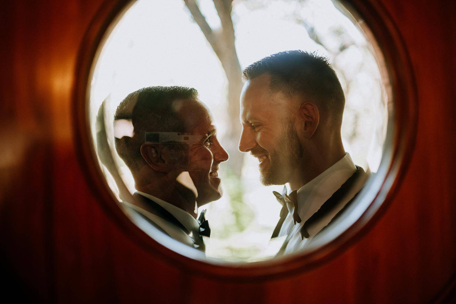 Two Men in a Mirror